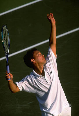 Photograph - Lipton Champs Michael Chang by Al Bello