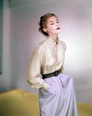 Photograph - Lisa Fonssagrives Wearing Vogue Patterns by Horst P. Horst