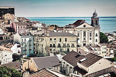 Photograph - Lisbon Cityscape - Portugal by Stuart Litoff