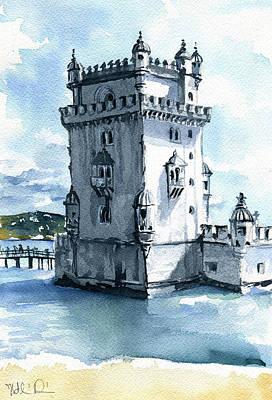 Lisbon Torre De Belem In Portugal Original