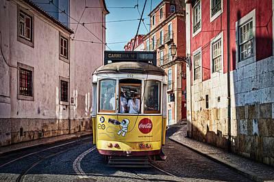 Photograph - Lisbon Tram - Portugal by Stuart Litoff