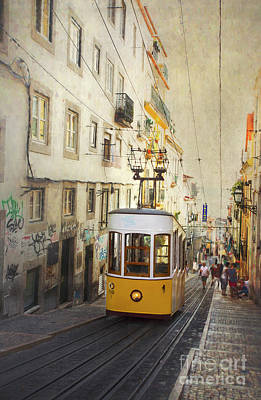 Photograph - Lisbon Yellow Tram by Elena Nosyreva