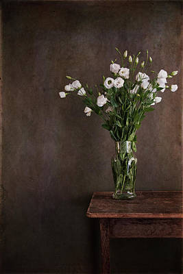 Antique Flowers Vase Wall Art - Photograph - Lisianthus Flowers by Paul Grand Image