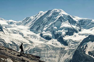 Liskamm Lyskamm 4527m Mountain Peak In Art Print by Alpamayophoto