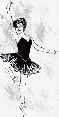 Minimalist Movie Quotes - Lite Dancer by Mario Carini