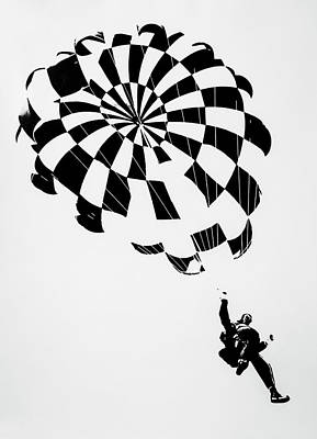 Photograph - Litho Parachute by Garry Gay