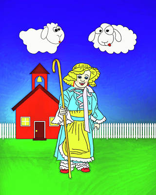 Digital Art - Little Bo Peep by John Haldane