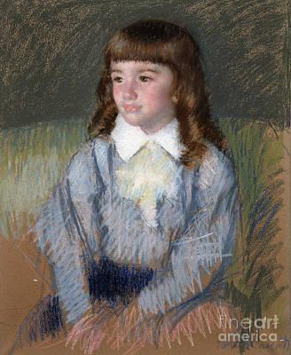 Pastel - Little Boy In Blue  Number Two by Mary Stevenson Cassatt