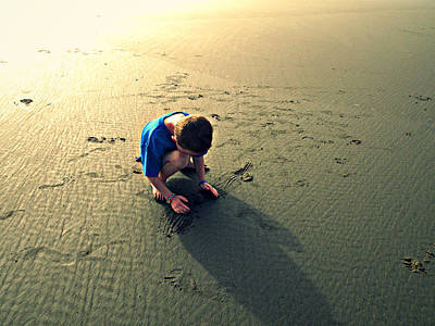 Photograph - Little Boy On The Beach by Micki Findlay
