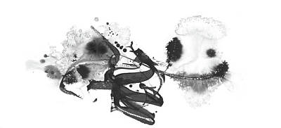 Painting - Little Cloud - Black And White Abstract by Modern Art Prints