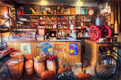 Photograph - Little Country Grocery Painting  by Debra and Dave Vanderlaan