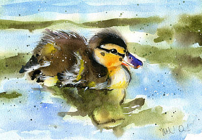 Painting - Little Duck by Dora Hathazi Mendes