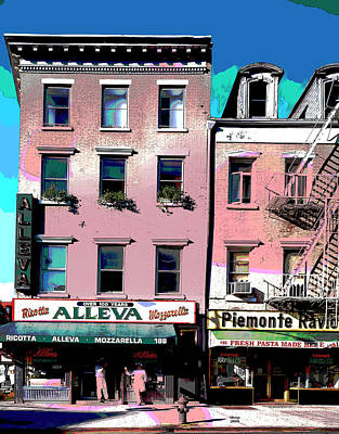 City Sunset Mixed Media - Little Italy New York City by Charles Shoup