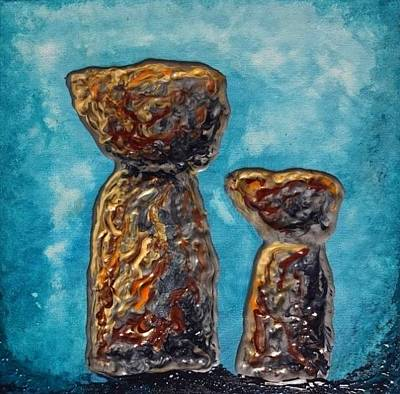 Painting - Little Latte Stones by Michelle Pier