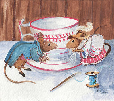 Painting - Little Mouse Tippets by Michelle Curry