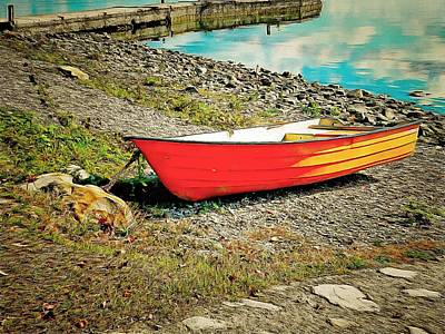 Photograph - Little Orange Boat by Dorothy Berry-Lound