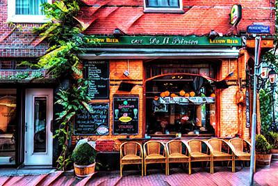 Photograph - Little Pub Downtown Amsterdam Art by Debra and Dave Vanderlaan