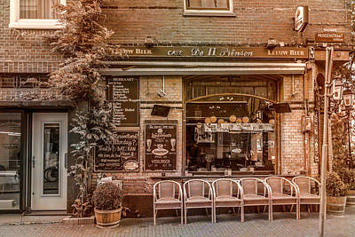 Photograph - Little Pub Downtown Amsterdam Old World Charm by Debra and Dave Vanderlaan