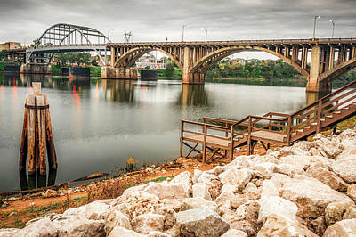 Photograph - Little Rock Arkansas Along The River by Gregory Ballos