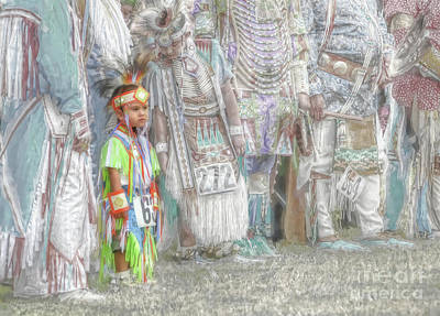 Mixed Media - Little Wacipi Dance Contestant by Dyle Warren