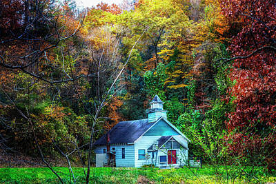 Photograph - Little White Church In The Smoky Mountains by Debra and Dave Vanderlaan