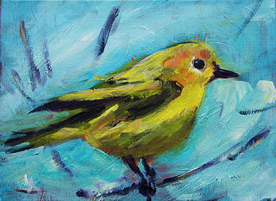 Painting - Little Yellow Bird by Yulia Kazansky