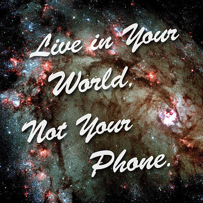 Photograph - Live In Your World Not Your Phone 2 by Bill Swartwout Photography