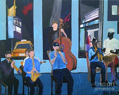 Painting - Live Jazz At Marigny Brasserie by Samantha Galactica