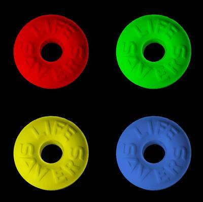 Photograph - Life Savers In Quad Colors by Rob Hans