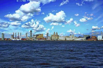 Photograph - Liverpool Skyline by Anthony Dezenzio
