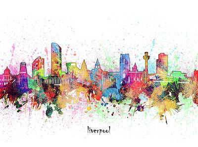 Abstract Skyline Royalty-Free and Rights-Managed Images - Liverpool Skyline Artistic by Bekim M