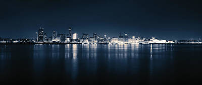 Giuseppe Cristiano - Liverpool Skyline Wide Without Signature by Vinnie Camilleri