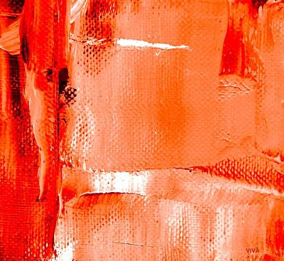 Painting - Living Coral Spectrum Abstract by VIVA Anderson