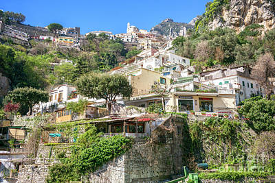 Photograph - Living In The Hills Positano by John Rizzuto