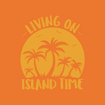 Royalty-Free and Rights-Managed Images - Living On Island Time Palm Trees And Sunset by John Schwegel