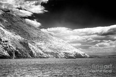 Photograph - Living On The Cliffs In Positano Infrared by John Rizzuto