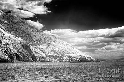 Photograph - Living On The Cliffs Positano Infrared by John Rizzuto