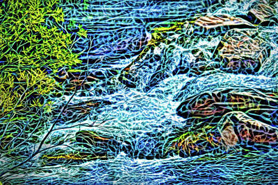 Digital Art - Living Water Stream by Joel Bruce Wallach
