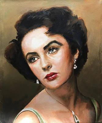 Painting - Liz Taylor by Robert Korhonen