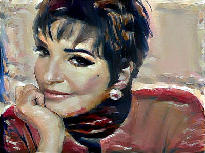 Digital Art - liza Minelli by Richard Laeton