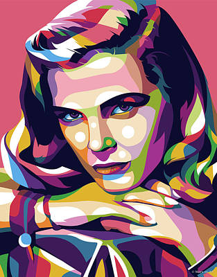 Royalty-Free and Rights-Managed Images - Lizabeth Scott illustration by Stars on Art