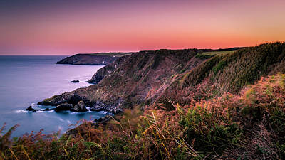 Lizard Point Sunset - Cornwall Art Print