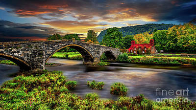 Photograph - Llanrwst Bridge And Ivy Cottage by Adrian Evans