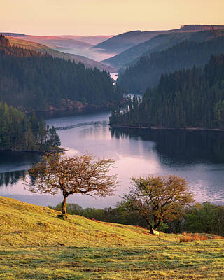 Elliott Coleman Royalty-Free and Rights-Managed Images - Llyn Brianne Sunrise by Elliott Coleman