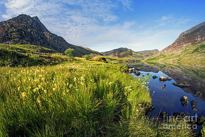 Photograph - Llyn Ogwen And Tryfan by Ian Mitchell