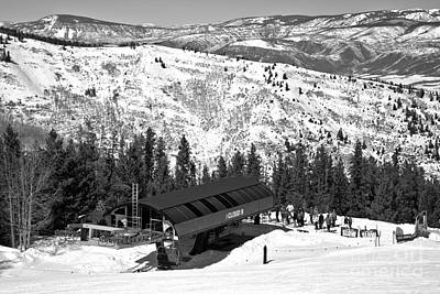 Photograph - Loading Aspen Highlands Cloud 9 Chair Black And White by Adam Jewell