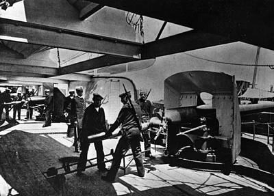 Loading Gun Art Print by Hulton Archive