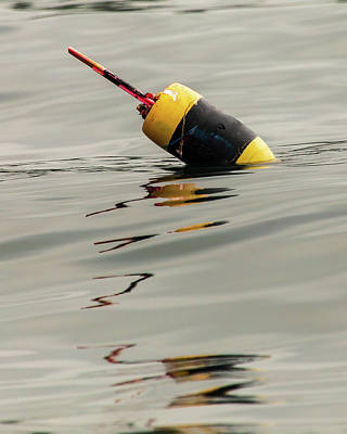 Photograph - Lobster Buoy Reflection by Stefan Mazzola