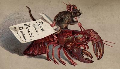 Lobster Jockey Art Print by Hulton Archive