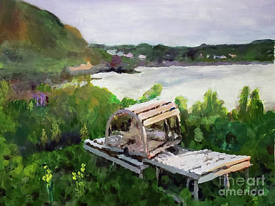 Painting - Lobster Trap In Cape Breton by Donna Walsh